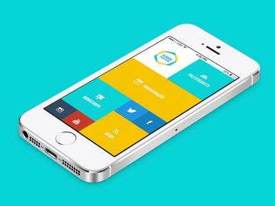 Alagoas Social Media App app dashboard minimal retro metro flat asm social media ios iphone mockup