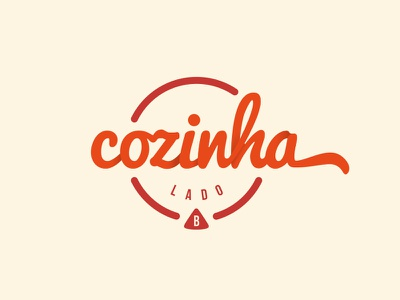 Cozinha Lado B idendity logo cook food side b shadow type typography handwriting