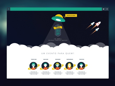 Alagoas Dev Day Website dev day event brazil html css space frontend star wars layout dashboard