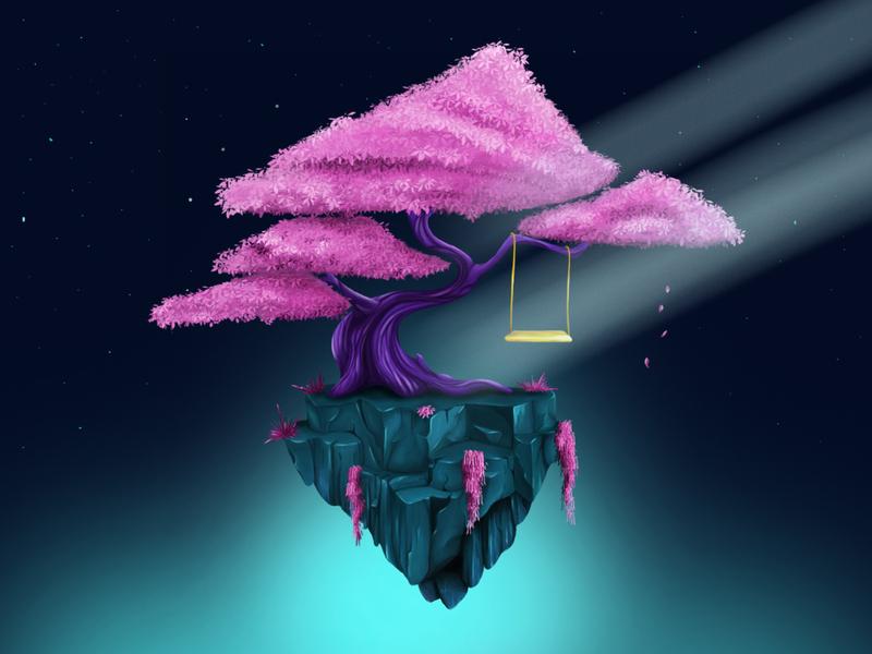 Tree tree game art environment art photoshop illustration