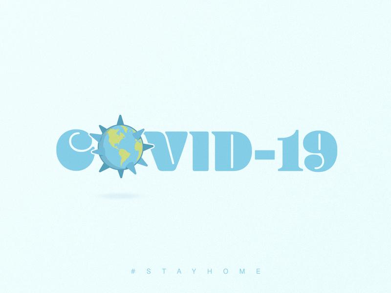 Covid-19 | Logotype Concept mark simple logos visual design minimalist logo blue world creative design virus logo concept earth logo mark logo design smart logo logo coronavirus covid19 covid-19 logotype