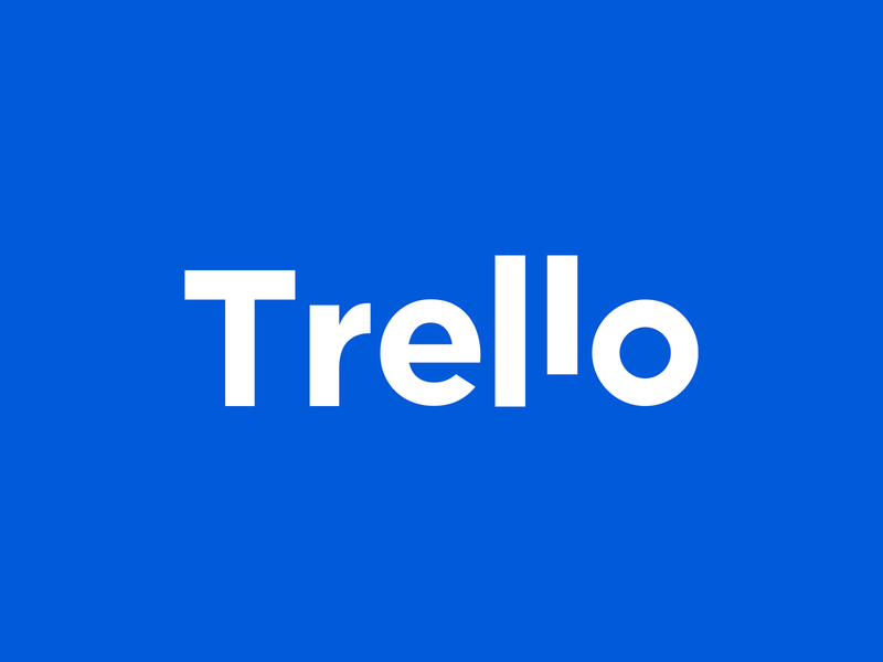 Trello | Rebranding (Unofficial) minimal logo logo idea lettermark wordmark design brand identity logos creative logo design concept mark blue smart logo logo mark logo design rebranding redesign logotype logo app trello