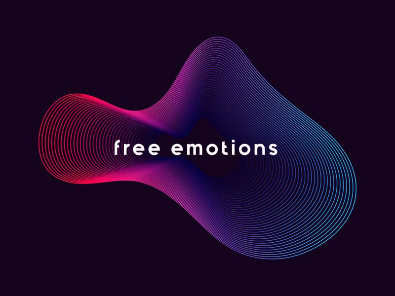 Free Emotions - Electronic Music Festival form gradient colors curves lines line texture sound waves electronic free emotions portugal branding identity shapes color festival music brand