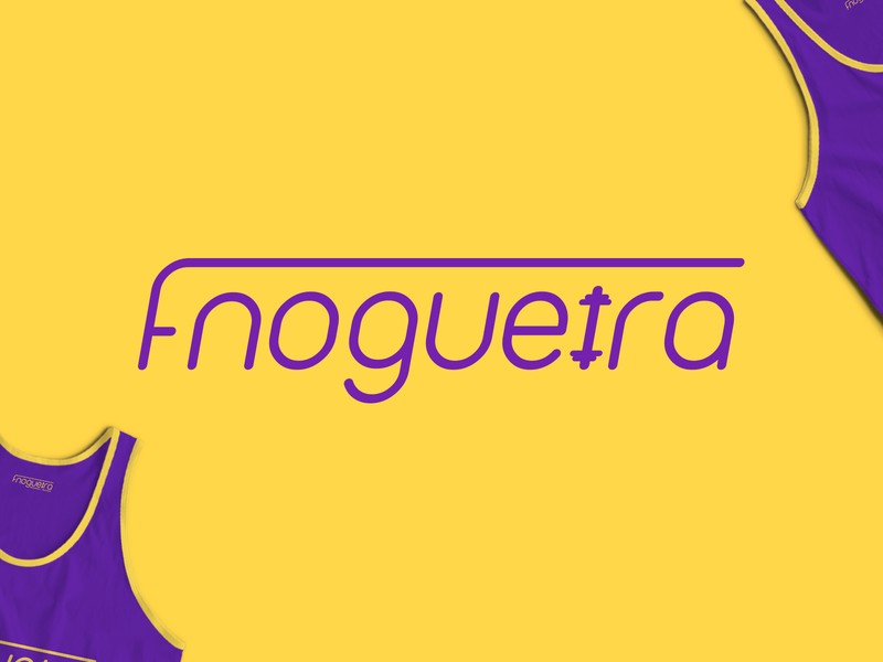Flávia Nogueira - Logotype Design femine dumbbell pt workout sports sport muscle trainer personal trainer smart logo purple yellow identity logo logotype brand gym fit fitness branding