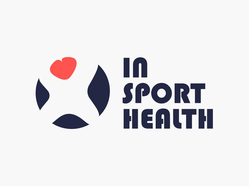 Insporthealth | Logo insporthealth portugal circle head silhouette design person brand branding shape move heart body cheer logo logo mark logotype health sport identity