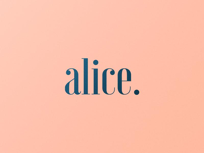 Alice | Logotype logodesign logosai portfolio lettermark logos logo designer wordmark pink creative logo mark logo design mark youtube logo youtuber portugal brand identity logo logotype branding