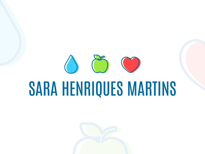 Sara Henriques Martins | Logotype logodesign branding portfolio creative water apple heart icons logos nutritionist nutrition logo design mark brand identity logo logotype logosai portugal