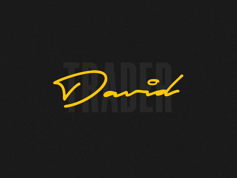 David Trader | Logotype typography logo design concept smart logo logotype logo mark logo design logo branding trader identity designer signature creative forex