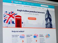 Web design for English training website