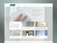 Web design for glass and mirror product makers