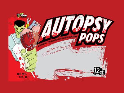 Autopsy Pop Polybag Graphics candy heart halloween frankensein horror illustrator