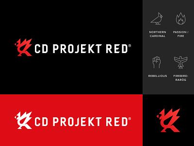 CD PROJEKT RED Rebranding logotype mark branding logo witcher cd projekt red northern cardinal cardinal firebird bird logo bird rebranding rebrand