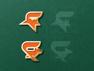 FOXY PINS forest symbol foxy fox logo cute animal green orange enamelpin pin fox badge mark branding logo