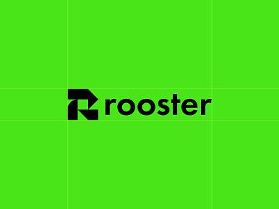 Rooster Sneaker sport green sneaker lettermarks r mark lettermark monogram mark branding logo