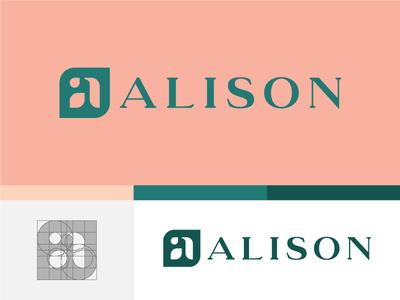 Alison Cosmetics vegan green logocore 30 day logo challenge natural leaf type cosmetic mark logo