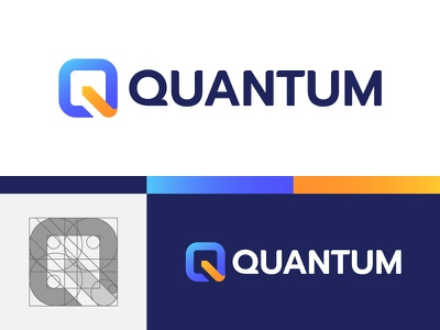 Quantum monogram branding open source mark logo code php 30 day logo challenge