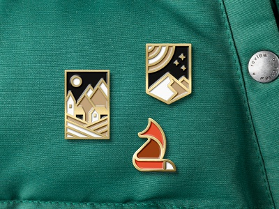 Enamel Pins fox enamelpin pins mark branding badge