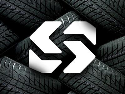 S monogram letter tire s wordmark design branding mark logo
