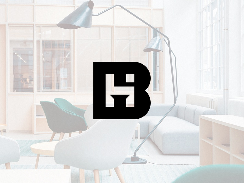 Bent Hansen monogram furniture design skandinavian logomark branding design branding mark furniture logo