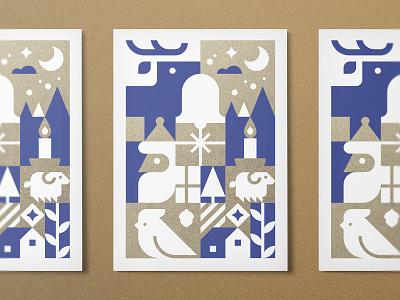 Christmas Card gifts christmas tree illustration holiday snow deer candle card christmas card christmas