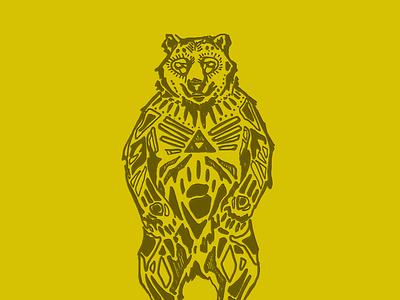 Whitebearspirits Logo Concept illustration wine logo design logo identity logo