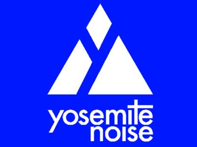 Yosemitenoise Blue type illustration band logo band personal identity