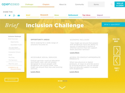 OpenIDEO Concept Submission for Inclusion Challenge ux web design desktop ui concept openideo