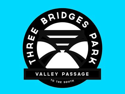 Three Bridges Park Signage public parks parks identity typogaphy illustration signage logo public art