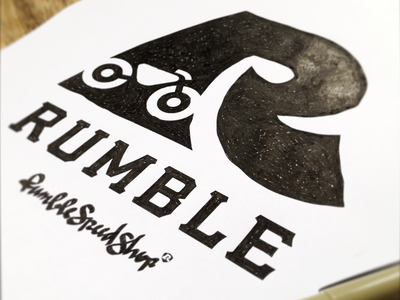 Rumble Speed Shop logo motorcycle rumble rumble speed shop