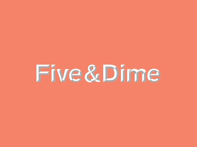Five&Dime studio logo identity branding
