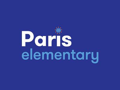 Paris Elementary  school logo identity