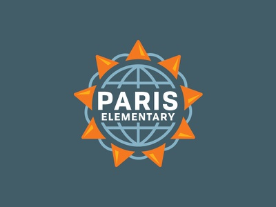 Paris Elementary school identity logo