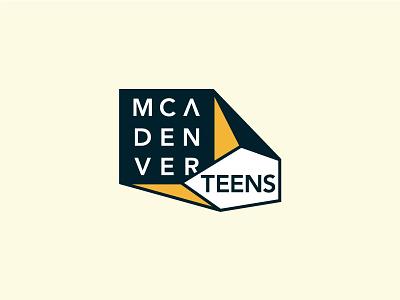 MCA Denver Teens teens denver identity logo