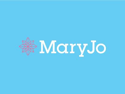 MaryJo serif slab flower floral identity logo