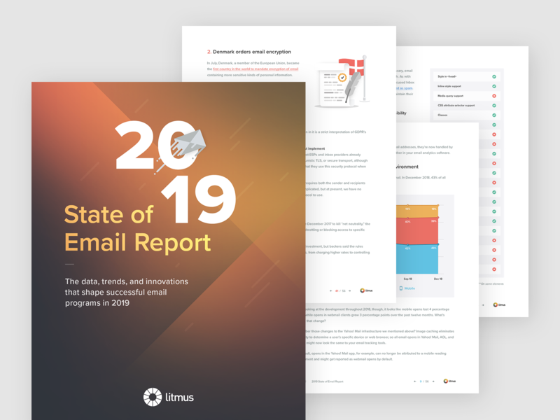 2019 State of Email Report data inbox email editorial report ebook 2019 litmus
