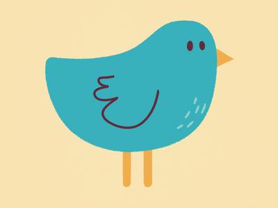 Bird is the word bird animal vector illustration
