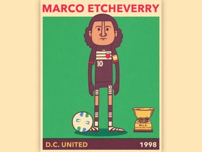 Marco Etcheverry sport vector soccer portrait mls illustration futbol football caricature