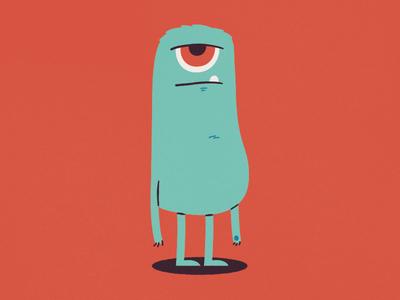 Monster creature vector beast monster illustration