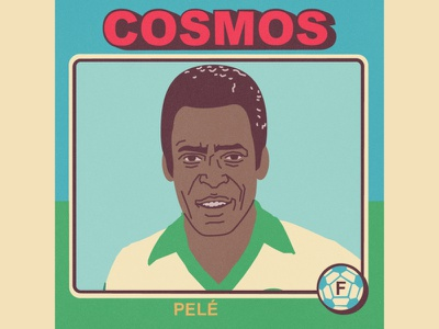 Pelé vector sport soccer portrait nasl illustration futbol football caricature