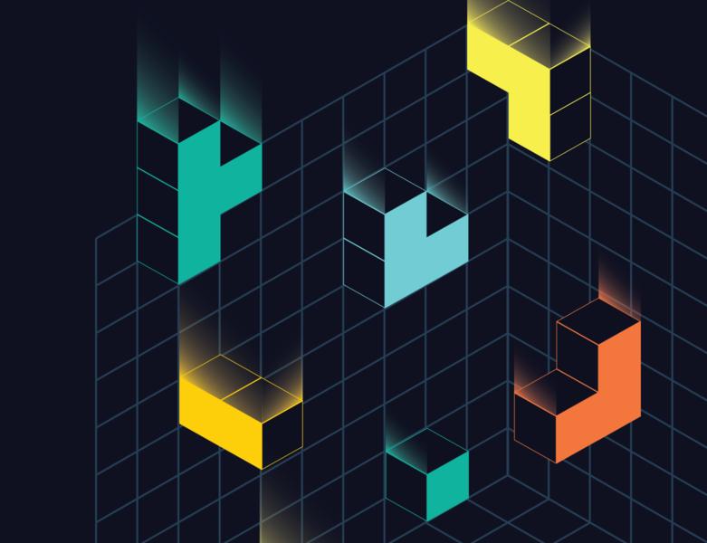 LabWeek Banner branding brand colors ipfs illustration blocks protocol labs banner