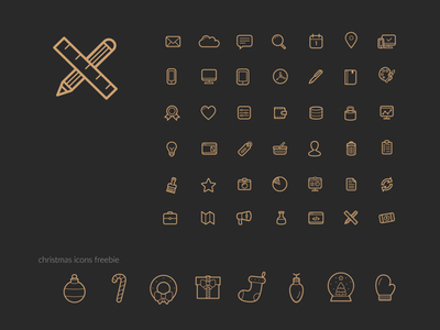 Icons for EBD Brand black gold simple basic icons