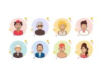 Famous avatars icons