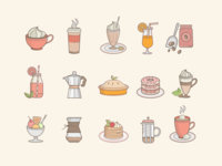 Coffeeshop Food icons