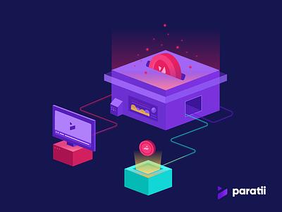 Paratii Token Illustrations video coins paratii illustration crypto icon token