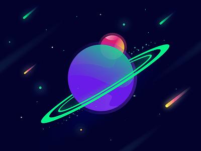 Space illustration illustration galaxy planet stars space