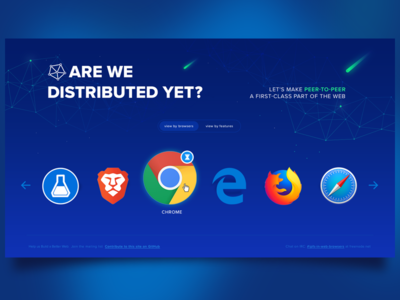 Are we distributed yet node peer to peer protcol labs ipfs decentralization distributed browsers website