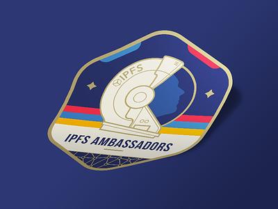 IPFS Ambassadors Logo ipfs ambassadors galaxy stars space sticker