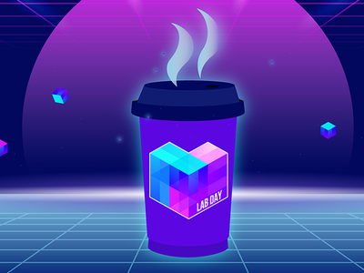 Lab Day Coffee logo lab day event san francisco protocol labs ipfs cube decentralization