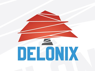 Delonix - marketing agency logo typography dominican republic delonix logo marketing