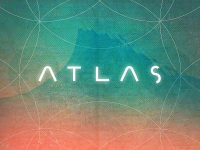 Atlas type title atlas illustration gradient wave futuristic